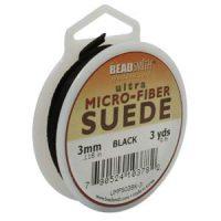 Ultra Micro Fiber Suede - 3mm - Black