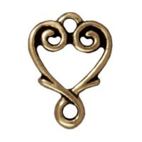 Vine Heart Link - Brass Ox