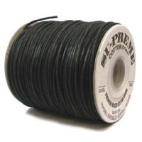 Waxed Cotton - 2mm - Black