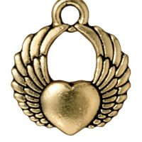 Winged Heart - Antique Gold
