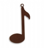 34x14mm Music Note Blank
