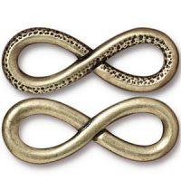 Infinity Charm - Brass Ox