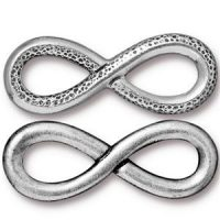 Infinity Charm - Ant. Silver