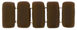 Two Hole  Brick (50 pieces) - Matte Chocolate Brown