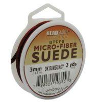 Ultra Micro Fiber Suede - 3mm - Dk. Burgandy