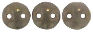 Two Hole  Lentil (50 pieces) - Ashen Grey Moondust