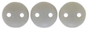 Two Hole  Lentil (50 pieces) - Ashen Grey Matte