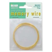 Memory Wire Bracelet - Gold Plated