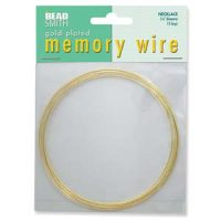 Memory Wire Necklace - Gold Plated