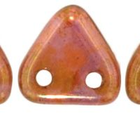 Two-Hole Triangle - Luster Rose/Gold Topaz