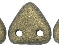 Two-Hole Triangle - Metallic Suede Gold