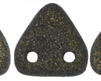 Two-Hole Triangle - Metallic Suede Dk. Green