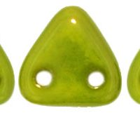 Two-Hole Triangle - Silversheen Chartreuse
