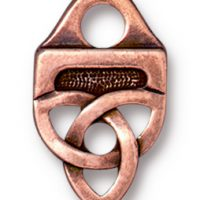 Celtic Strap Tip - Antique Copper