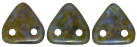 Two-Hole Triangle - Sapphire Copper Picasso