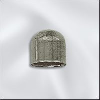 8mm End Cap - Antique Silver Plate