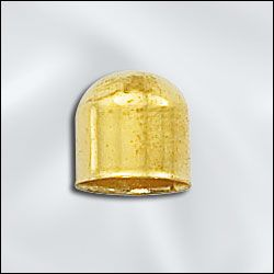 8mm End Cap - Gold Plate