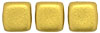 Two Hole Tile (50 pieces) - Matte Metallic Aztec Gold
