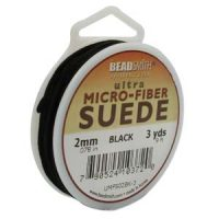 Ultra Micro Fiber Suede - 2mm - Black