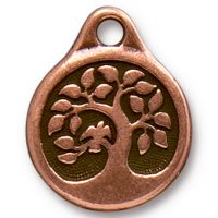Bird in a Tree Drop - Antique Copper