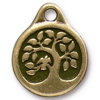 Bird in a Tree Drop - Brass Ox