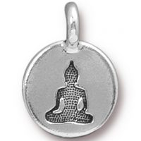 Buddha Charm - Antique Silver