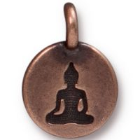 Buddha Charm - Antique Copper