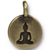 Buddha Charm - Brass Ox