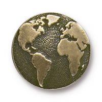 Button Earth - Brass Ox