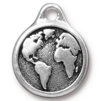 Earth Drop - Antique Silver