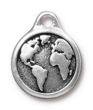 Earth Drop - Antique Silver
