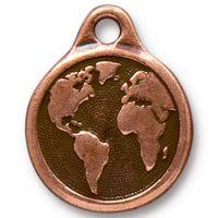 Earth Drop - Antique Copper