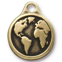 Earth Drop - Brass Ox
