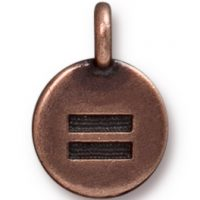 Equality Charm - Antique Copper