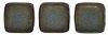 Two Hole Tile (50 pieces) - Matte Iris Brown
