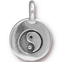 Yin Yang Charm - Antique Silver