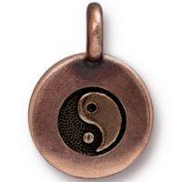 Yin Yang Charm - Antique Copper