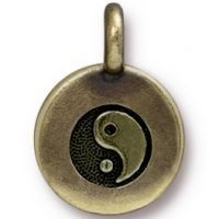 Yin Yang Charm - Brass Ox