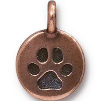 Paw Charm - Antique Copper
