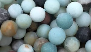 Black Gold Amazonite - Matte - 8mm Round