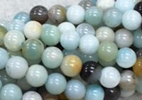 Black Gold Amazonite - 6mm Round
