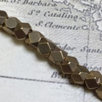 3mm Faceted Indonesian Spacer - Brass