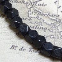 3mm Faceted Indonesian Spacer - Black Matte