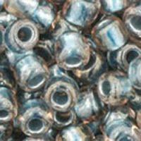 Toho 6/0 Round Inside Color Crystal/Metallic Blue Lined