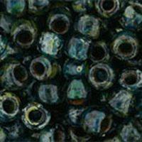 Toho 6/0 Round Transparent Capri Blue Picasso