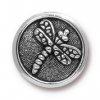 Button Dragon Fly - Antique Silver
