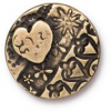 Button Amor Round - Brass Ox